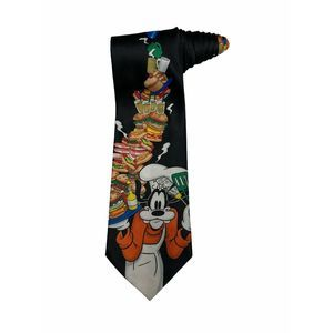 Disney Mickey Unlimited Goofy Kiss The Cook Tie